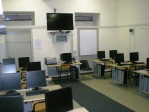 Una delle aule di informatica
